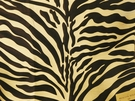 BEACON HILL KAWA ZEBRA JACQUARD SILK FABRIC BLACK