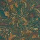 BEACON HILL LIONESS TROPICAL GARDEN ANIMAL LINEN FABRIC TEAK