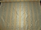 BEACON HILL MARAIS STRIPES SILK DAMASK FABRIC 9.2 YARDS CELADON GREEN INCA GOLD