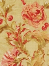BEACON HILL MONTELCINO FLORAL LINEN FABRIC CITRINE