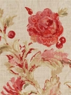 BEACON HILL MONTELCINO FLORAL LINEN FABRIC CORAL