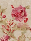 BEACON HILL MONTELCINO FLORAL LINEN FABRIC LILY PINK
