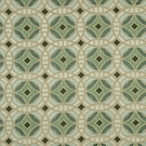 BEACON HILL PERSPECTIVE GEOMETRIC SILK JACQUARD EMBROIDERED FABRIC DARK AQUA