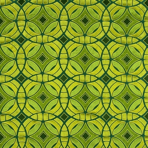 BEACON HILL PERSPECTIVE GEOMETRIC SILK JACQUARD EMBROIDERED FABRIC EMERALD