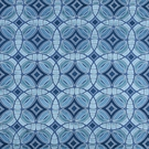 BEACON HILL PERSPECTIVE GEOMETRIC SILK JACQUARD EMBROIDERED FABRIC ISLAND BLUE