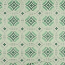 BEACON HILL PERSPECTIVE GEOMETRIC SILK JACQUARD EMBROIDERED FABRIC MINT