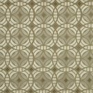 BEACON HILL PERSPECTIVE GEOMETRIC SILK JACQUARD EMBROIDERED FABRIC SILVER GOLD