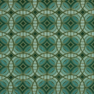 BEACON HILL PERSPECTIVE GEOMETRIC SILK JACQUARD EMBROIDERED FABRIC TOURMALINE