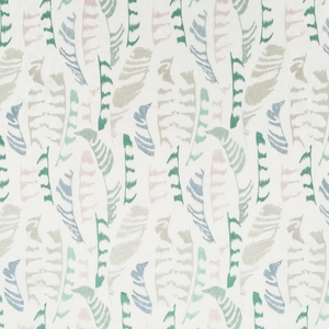 BEACON HILL PLUME STITCH BIRD SILK JACQUARD FABRIC SURF