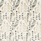 BEACON HILL PLUME STITCH BIRD SILK JACQUARD FABRIC TRAVERTINE