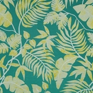 BEACON HILL POSITANO PALM SILK JACQUARD EMBROIDERED FABRIC NEPTUNE