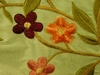 BEACON HILL PRIDMORE FLORAL SILK EMBROIDERED FABRIC CELADON WINE