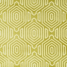 BEACON HILL PRIMO VELVET CONTURED GEOMETRIC UPHOLSTERY FABRIC CHARTREUSE