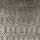 BEACON HILL PRIMO VELVET CONTURED GEOMETRIC UPHOLSTERY FABRIC GRANITE