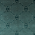 BEACON HILL PRIMO VELVET CONTURED GEOMETRIC UPHOLSTERY FABRIC NEPTUNE
