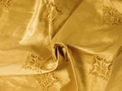 BEACON HILL REGENTS SILK GRANDEUR EMBROIDERED FABRIC HONEY