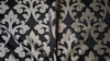 BEACON HILL ROBERT ALLEN DRAMATIC SWIRLS DAMASK FABRIC 13 YARDS BLACK SILVER