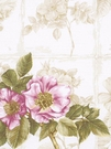 BEACON HILL ROSA CANINA FLORAL LINEN FABRIC BERRY