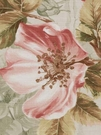 BEACON HILL ROSA CANINA FLORAL LINEN FABRIC CORAL MINT