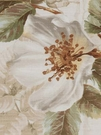 BEACON HILL ROSA CANINA FLORAL LINEN FABRIC LINEN WHITE
