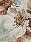 BEACON HILL ROSA CANINA FLORAL LINEN FABRIC ROBINS EGG BLUE