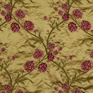 BEACON HILL ROSE QUEEN FLORAL SILK EMBROIDERY UPHOLSTERY  FABRIC CASHMERE