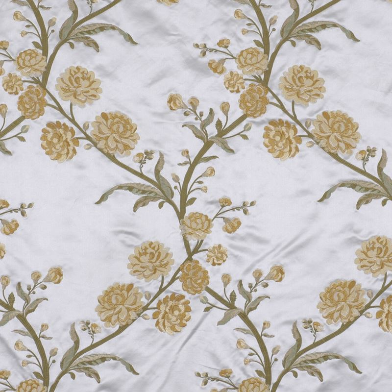 Beacon Hill Rose Queen Floral Silk Embroidery Upholstery Fabric Yellow