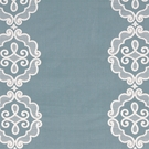 BEACON HILL RUE ROYALE LINEN EMBROIDERY APPLIQUE FABRIC POOL