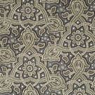 BEACON HILL SAMBA PAISLEY SILK JACQUARD EMBROIDERED FABRIC BROWN