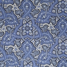BEACON HILL SAMBA PAISLEY SILK JACQUARD EMBROIDERED FABRIC SAPPHIRE