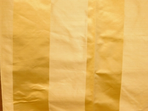 BEACON HILL SATIN SMOOTH SILK STRIPE FABRIC GOLDEN STRAW