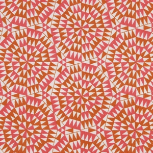 BEACON HILL SHAMIANA GEOMETRIC LINEN FABRIC MARIGOLD