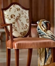 BEACON HILL TWOMBLEY FLORAL BIRD SILK EMBROIDERY FABRIC MIDNIGHT