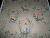 BRUNSCHWIG & FILS CHINOISERIE RIVER SONG MAGI TOILE GLAZED LINEN FABRIC 8 YARDS
