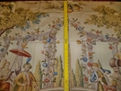 BRUNSCHWIG & FILS COSI FAN TUTTE ASIAN COTTON PRINT 10 YARDS FABRIC GOLD