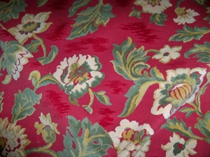 BRUNSCHWIG & FILS EXCLUSIVE OMBREMONT GROSPOINT VELVET FABRIC 5 YARDS ROUGE