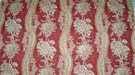BRUNSCHWIG & FILS FRENCH COUNTRY FLORAL TOILE LINEN FABRIC 14 YARDS RED CREAM