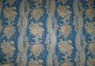 BRUNSCHWIG & FILS FRENCH COUNTRY FLORAL TOILE LINEN FABRIC 15 YARDS BLUE CREAM