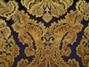 BRUNSCHWIG & FILS KINGS SQUIRE CUT VELVET FABRIC 10 YARDS ANTIQUE GOLD BLACK