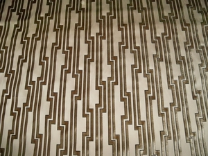 CLARENCE HOUSE ART DECO GEOMETRIC FRETWORKS CUT VELVET SILK FABRIC 10 YARDS