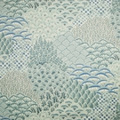 CLARENCE HOUSE BALOO LINEN FABRIC BLUES 3