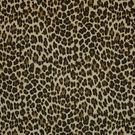 CLARENCE HOUSE BATOU LINEN LEOPARD FABRIC BROWN