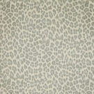 CLARENCE HOUSE BATOU LINEN LEOPARD FABRIC GREY