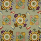 CLARENCE HOUSE BUKHARA CREWEL EMBROIDERED FABRIC BLUE