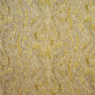 CLARENCE HOUSE CARMEN PAISLEY LINEN FABRIC YELLOW