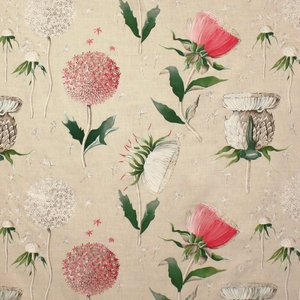 CLARENCE HOUSE CHARDON FABRIC PINK
