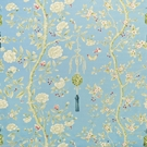 CLARENCE HOUSE CHINOISERIE BLOSSOMS BUTTERFLIES & BERRIES FABRIC BLUE