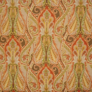 CLARENCE HOUSE DARIUS LINEN FABRIC MULTI