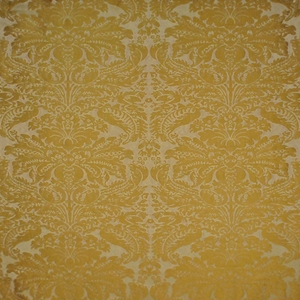 CLARENCE HOUSE EXCLUSIVE LOTUS MEDALLION SILK DAMASK FABRIC PEARL MULTI