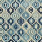 CLARENCE HOUSE JUHLS WOVEN LINEN VELVET FABRIC  BLUES